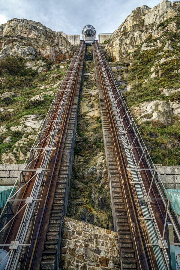 登上圣佩德罗火山, La Coruña,加利西亚 图库摄影