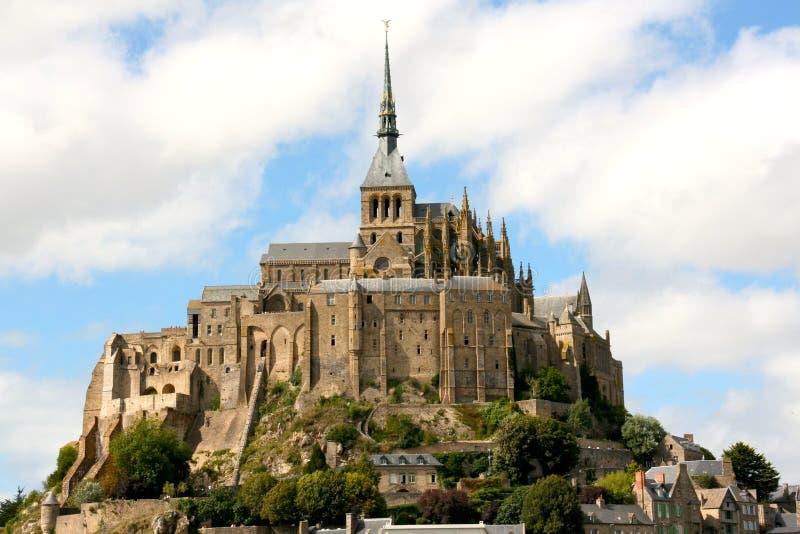 登上圣迈克尔-诺曼底-法国 库存图片