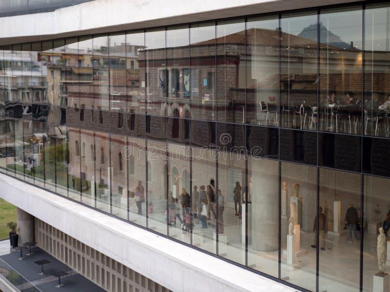 上城博物馆在雅典 免版税库存图片