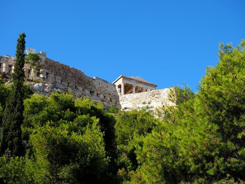 上城墙壁,雅典,希腊 库存照片