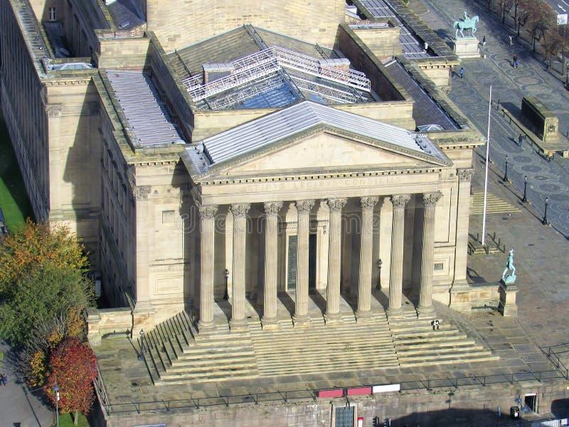 上城大厦在利物浦市 图库摄影