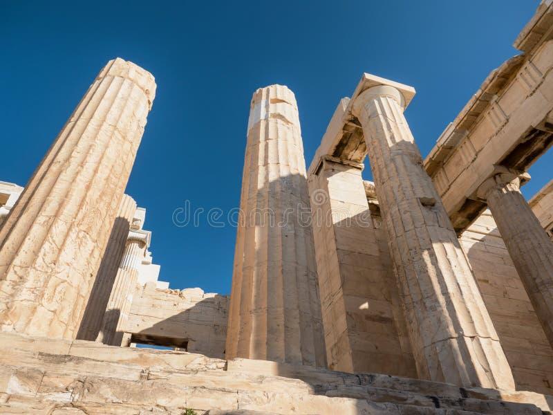 上城小山在雅典希腊 免版税库存图片
