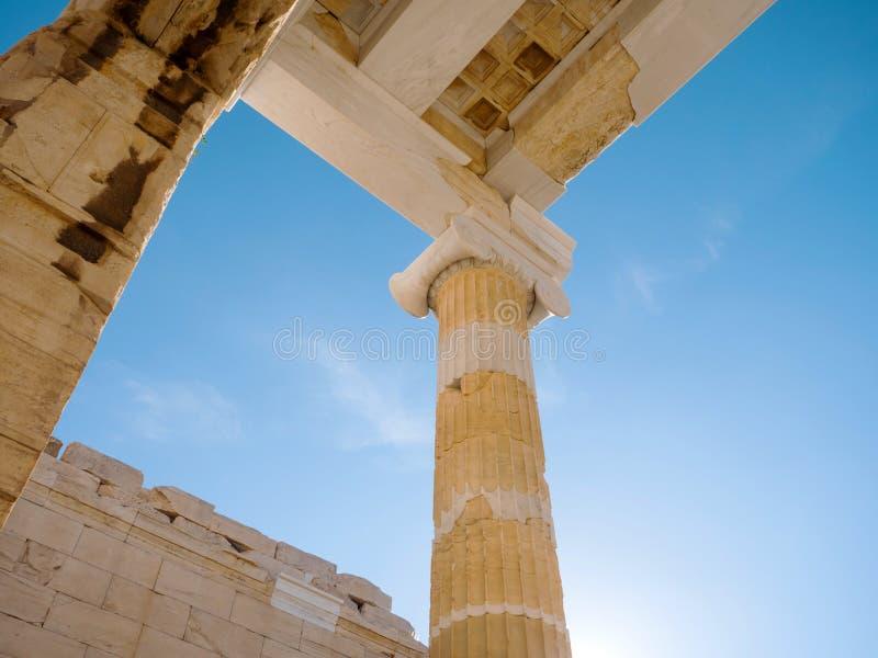 上城小山在雅典希腊 库存图片