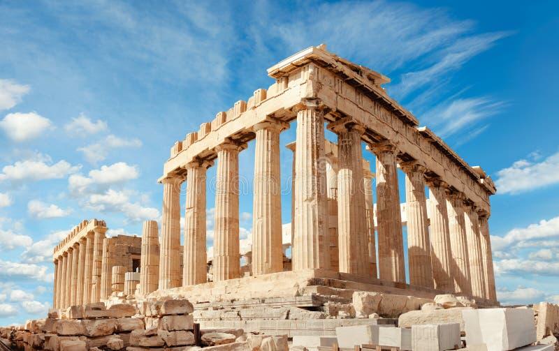 上城的帕台农神庙在雅典,希腊 免版税库存照片