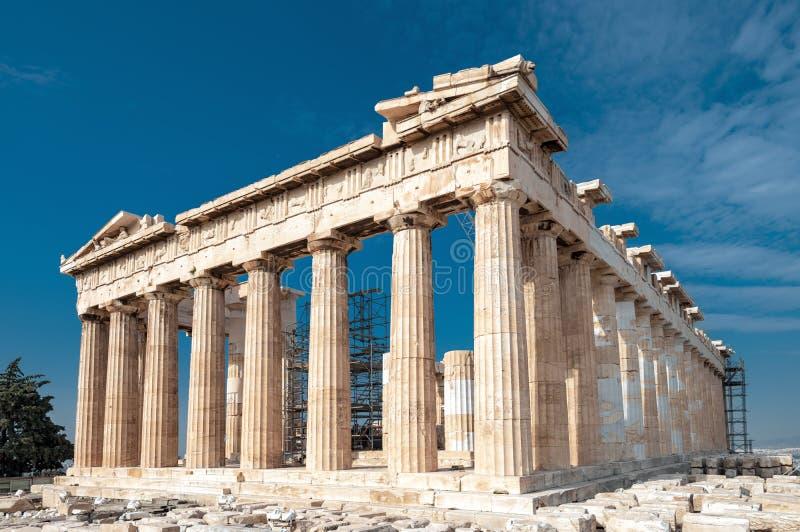 上城的帕台农神庙,雅典,希腊 免版税库存照片