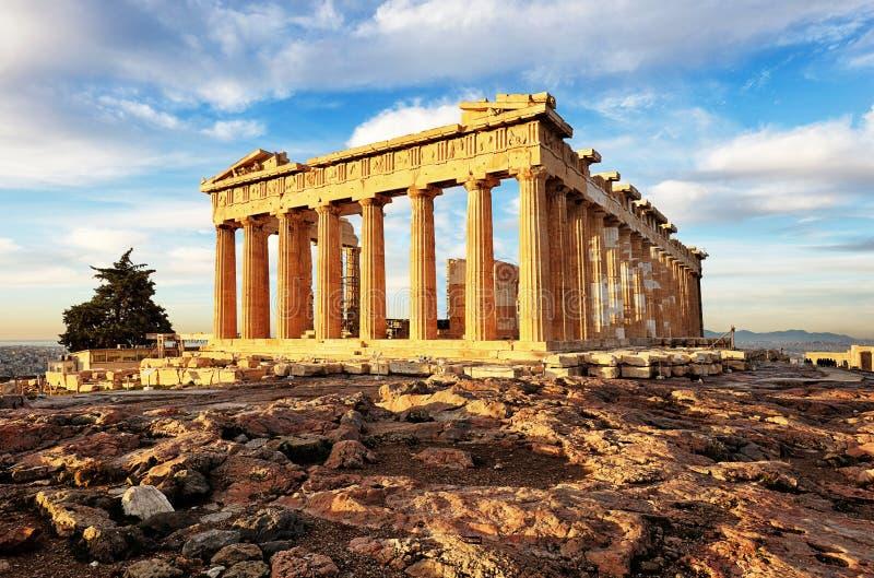 上城的,雅典,希腊帕台农神庙 它是雅典的一个主要旅游胜地 库存图片