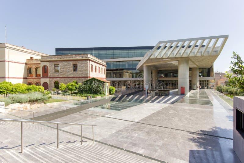 上城雅典博物馆右侧视图 库存图片