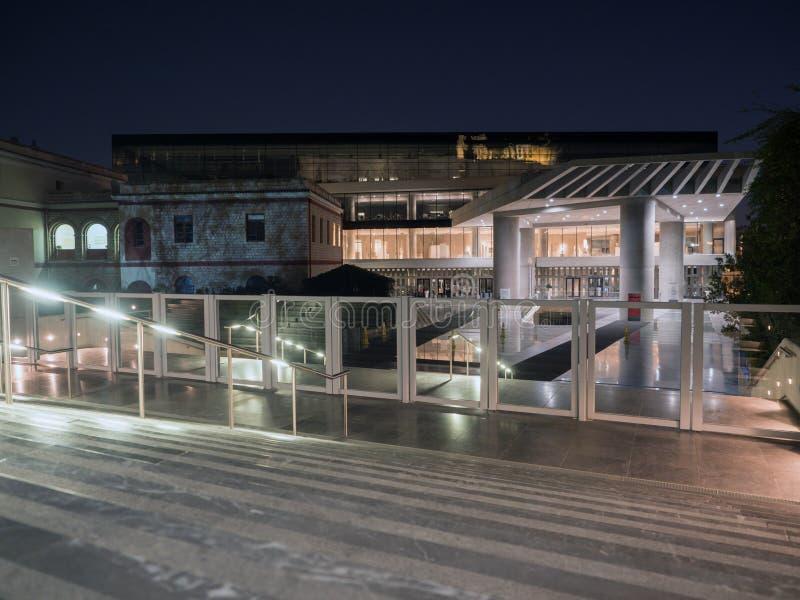 上城雅典博物馆右侧视图 免版税图库摄影