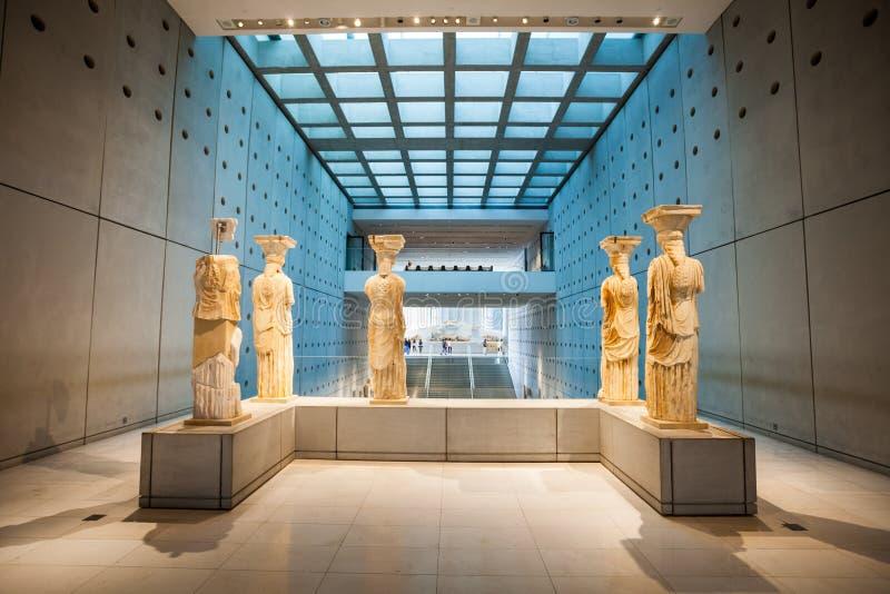 上城雅典博物馆右侧视图 免版税库存图片