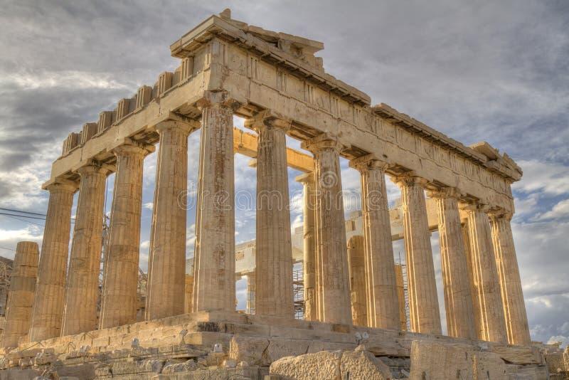 上城雅典希腊帕台农神庙 库存图片