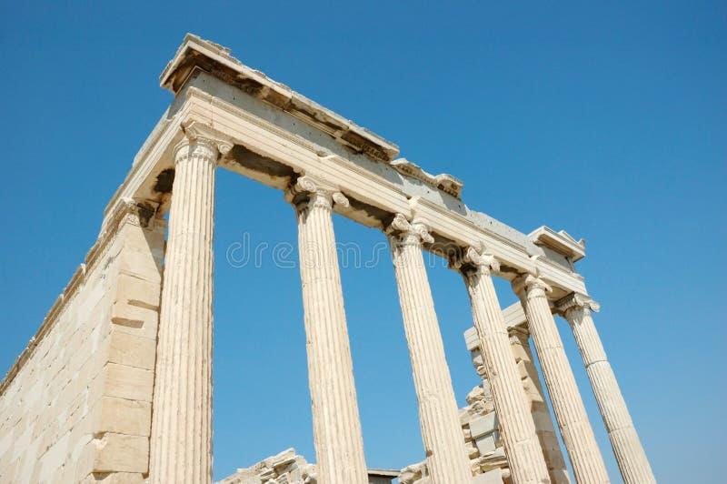 上城雅典希腊废墟 免版税库存照片