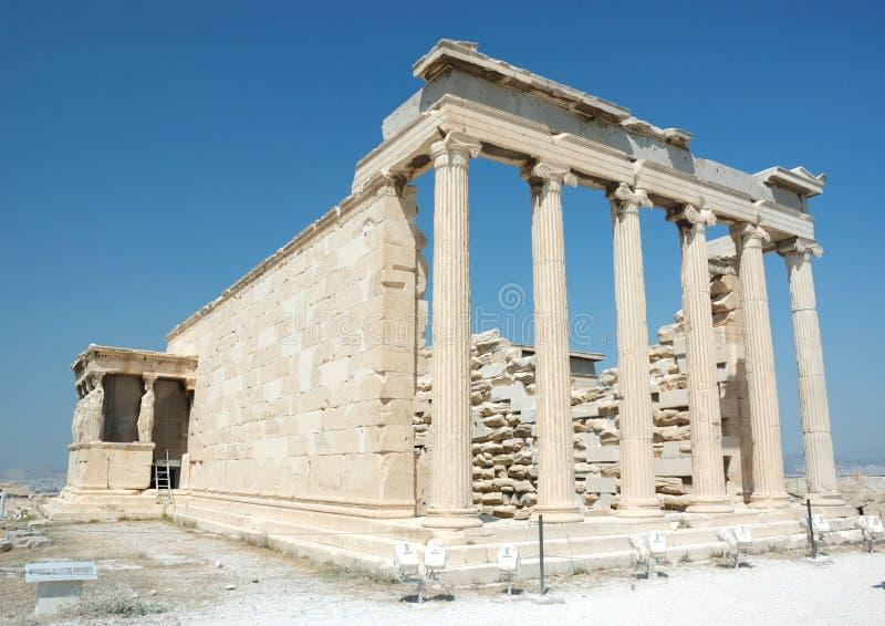 上城雅典著名地标废墟 免版税图库摄影