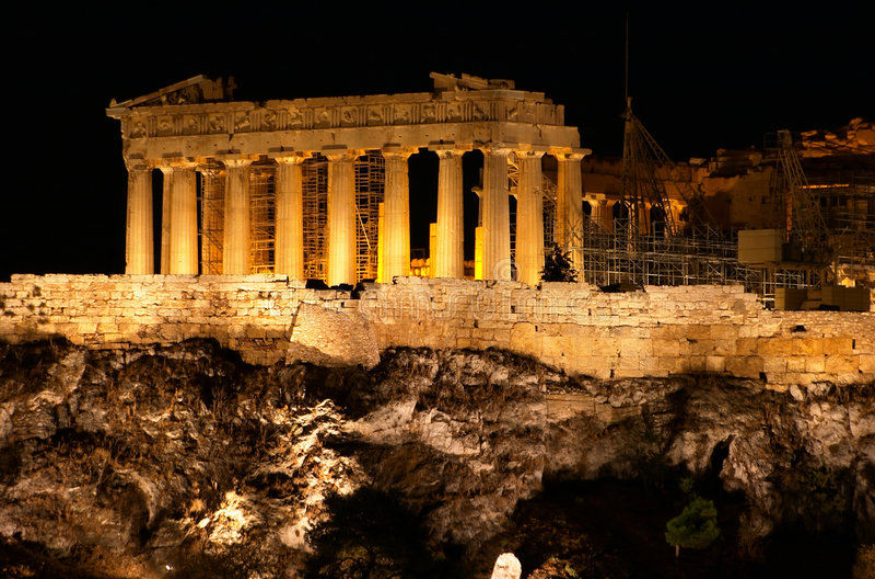 上城雅典 免版税库存图片