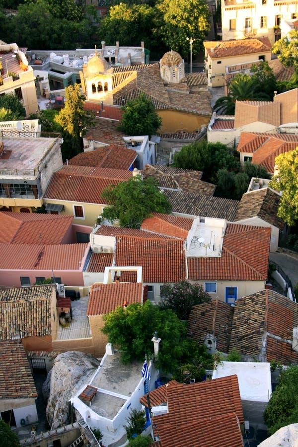 上城,雅典山麓小丘的议院  图库摄影