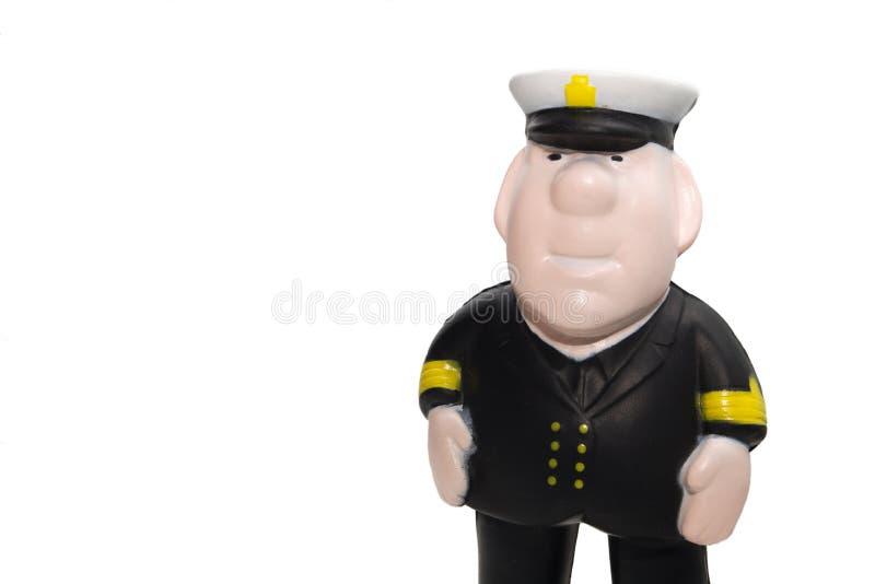 上尉小雕象塑料 免版税图库摄影