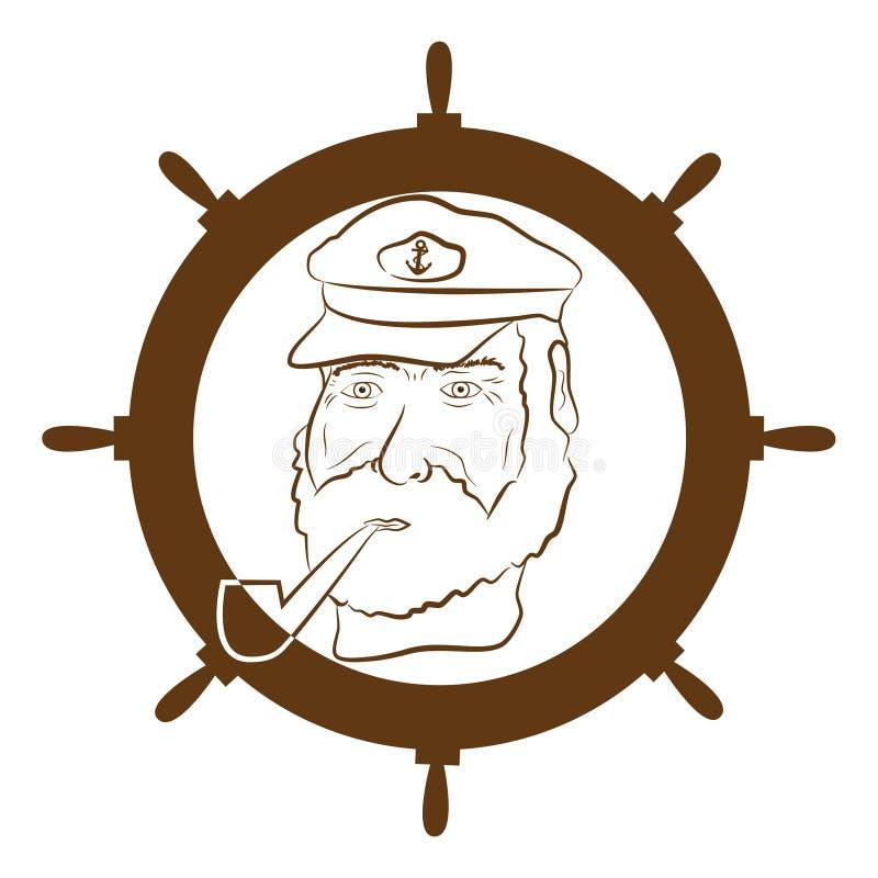 上尉徽标 库存例证