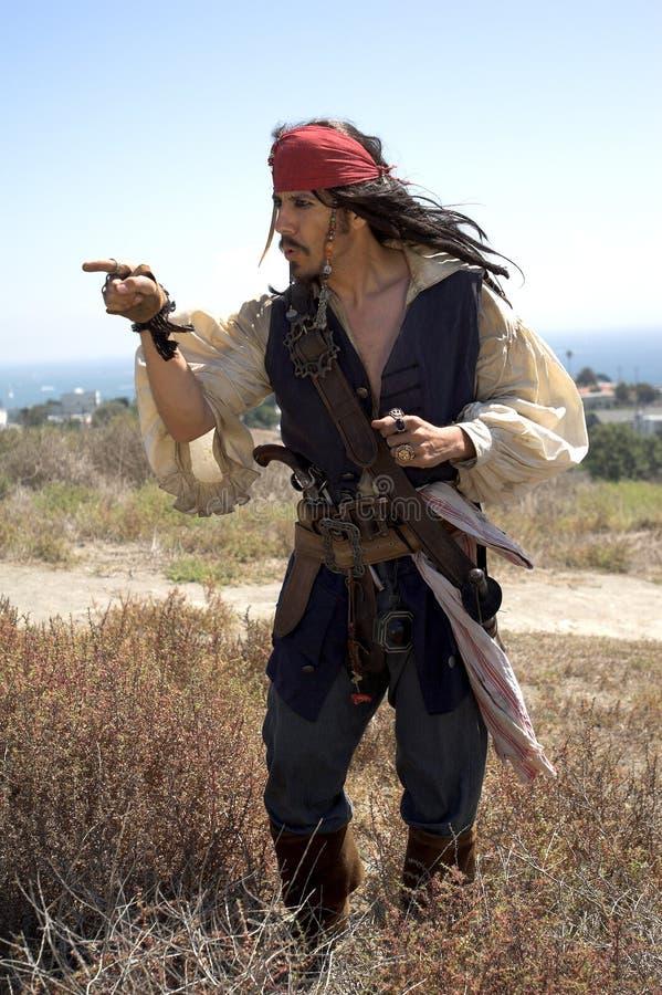 上尉海盗 免版税图库摄影