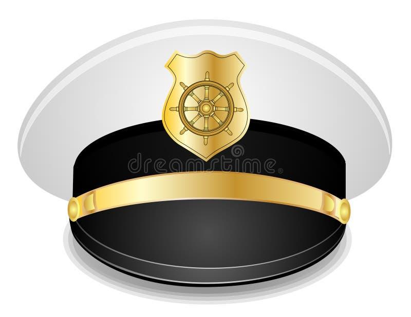 上尉盖帽 向量例证