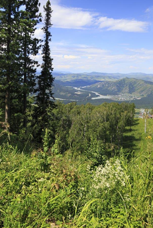 从登上小Sinyuha的美好的夏天视图 库存图片