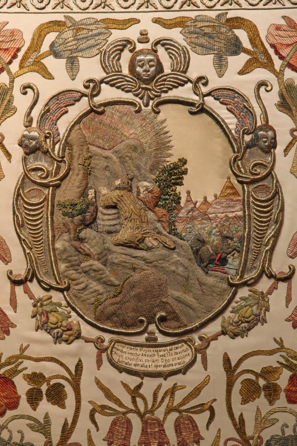 上帝坟茔细节,陈列圣周六在萨格勒布大教堂里 免版税图库摄影