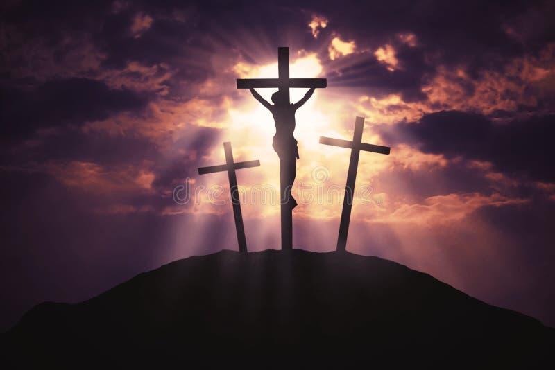 上帝对人的` s爱的标志 图库摄影