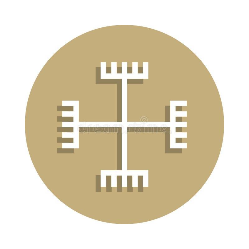 上帝的异端手签署在徽章样式的象 一宗教标志汇集象可以为UI, UX使用 免版税图库摄影