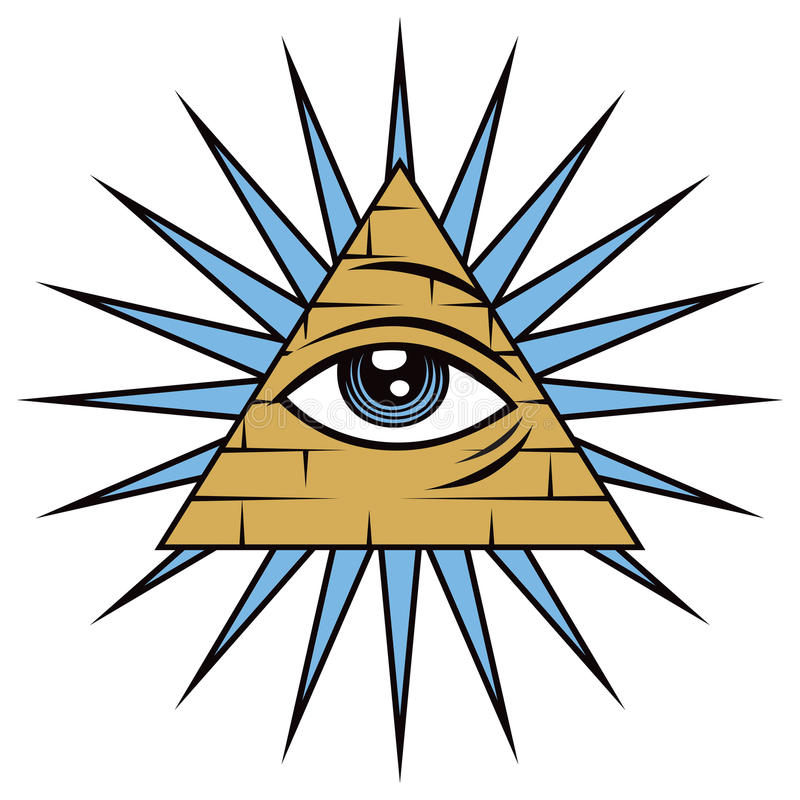 上帝的所有看见的眼睛 皇族释放例证