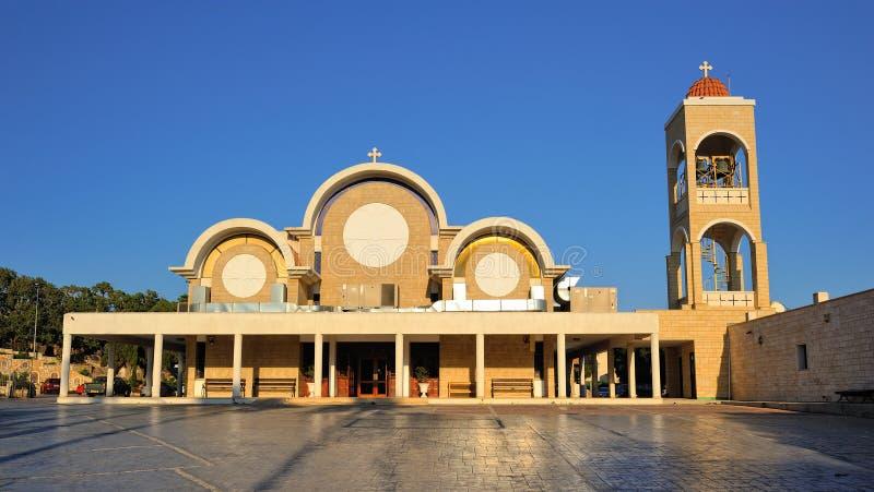 上帝的母亲教会在Agia纳帕,塞浦路斯 库存图片