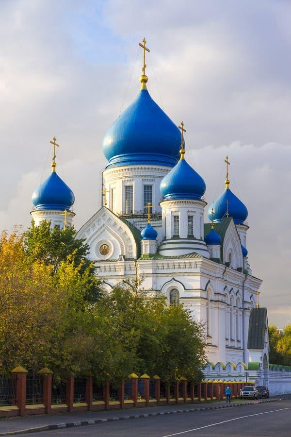 上帝的母亲的利比亚象的大教堂在莫斯科 免版税库存照片