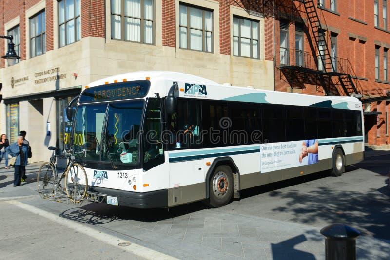 上帝RIPTA公共汽车,上帝, RI,美国 库存图片
