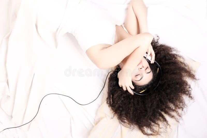 上床时间音乐 库存照片