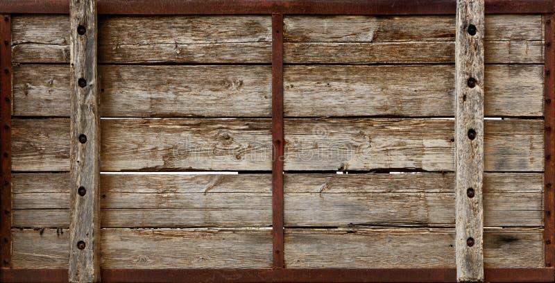 上木条板箱的纹理 库存图片