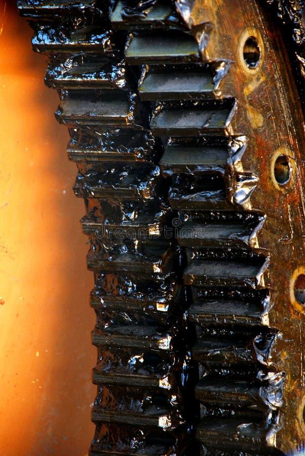 上油的齿轮 免版税库存照片