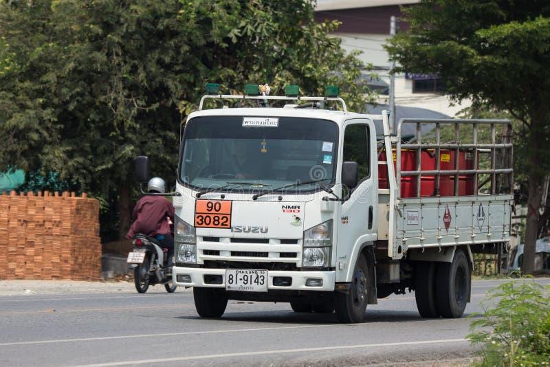 上油Pan Pong Thai Transport Company卡车  库存照片