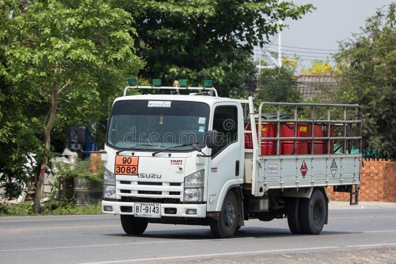 上油Pan Pong Thai Transport Company卡车  免版税库存照片