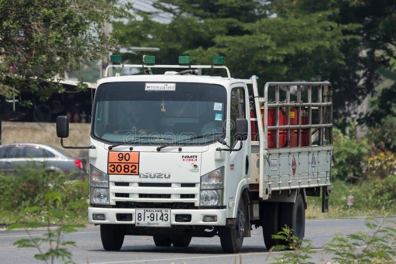 上油Pan Pong Thai Transport Company卡车  库存图片