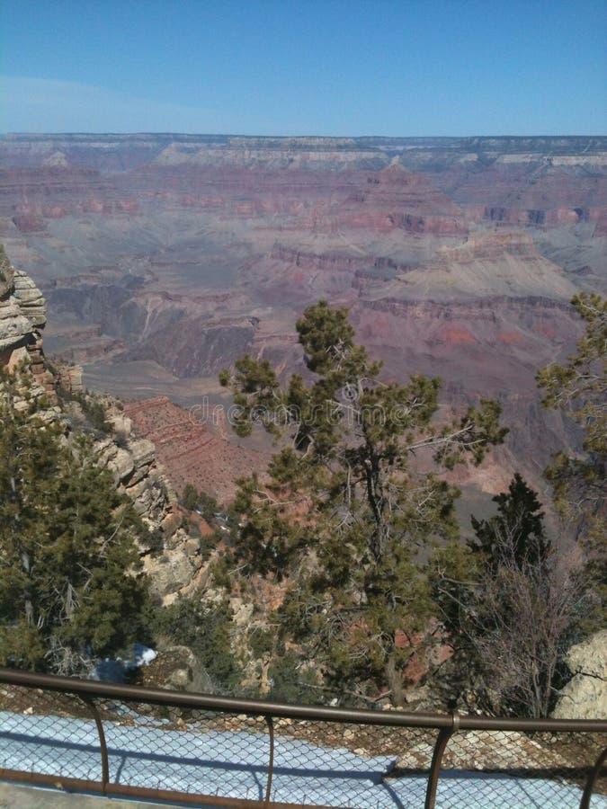 从上流峡谷的上面 库存图片