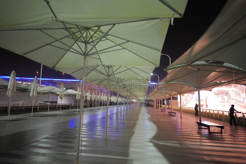 2010年上海世博会轴足迹 免版税图库摄影