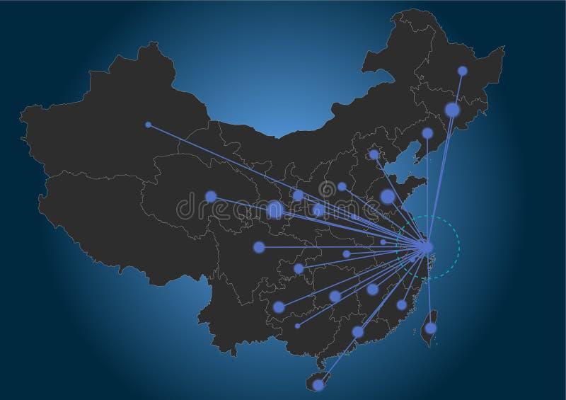 上海中心瓷 皇族释放例证