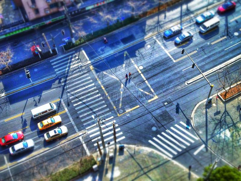 上海交叉路  免版税库存图片