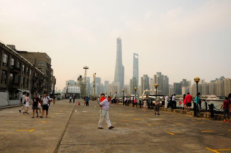 上海凉快的码头  库存图片