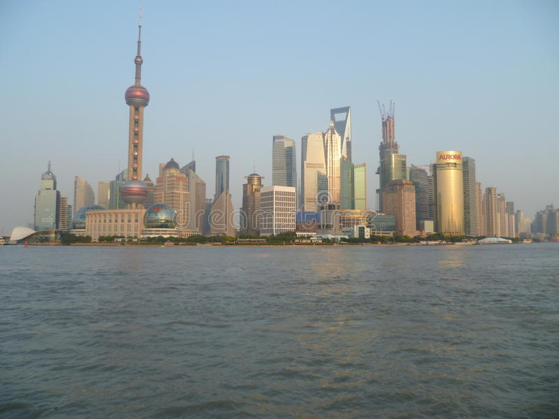 上海在白天之前 库存图片