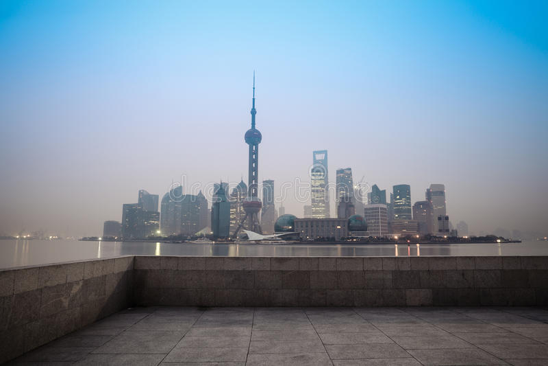 上海在黎明 库存照片