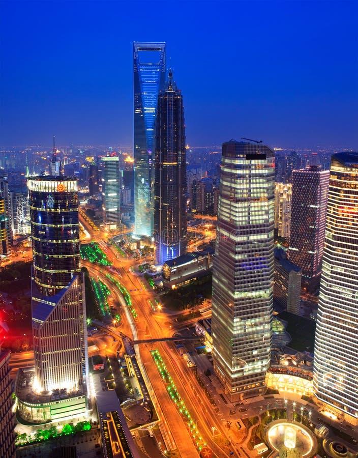 上海地平线。 中国 库存照片