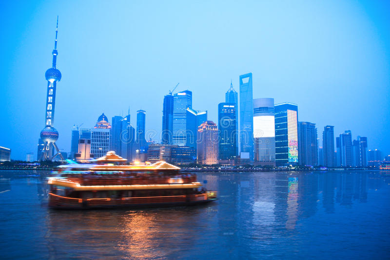 上海地平线 库存照片