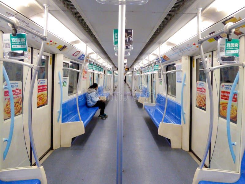 上海地铁内部 库存图片