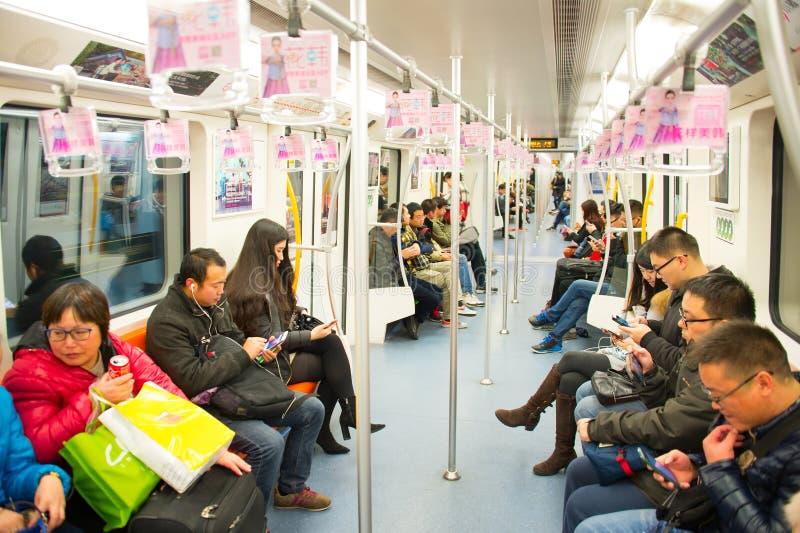 上海地铁火车,中国 库存照片