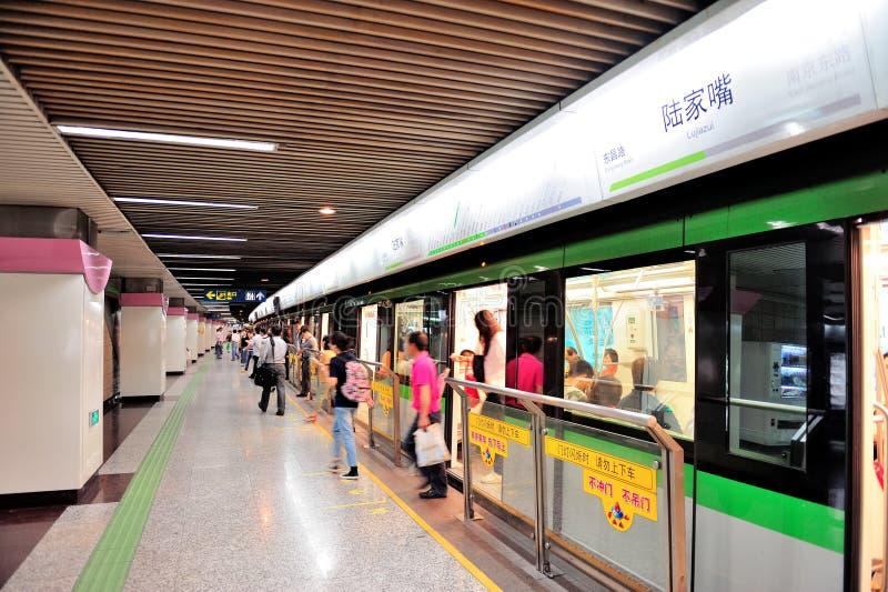 上海地铁 免版税库存图片