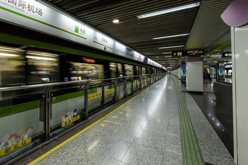 上海地铁 库存图片