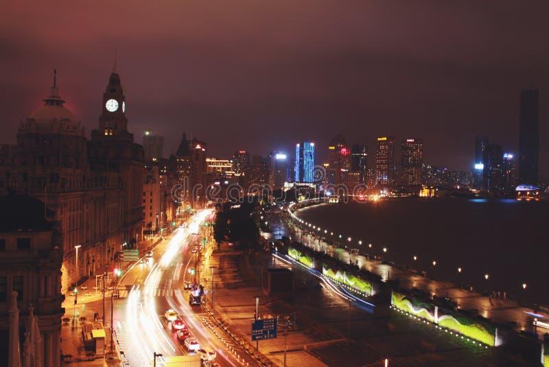 上海夜 免版税库存图片